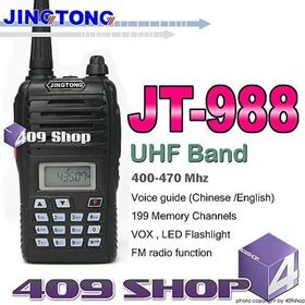 2015 Offer JINGTONG JT988 UHF 400-470 199MEMORY CHANNEL