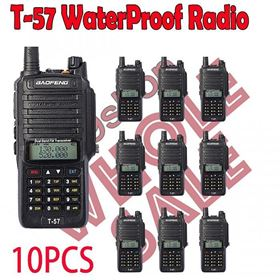 10x BAOFENG T57 WATERPROOF ANTI DUST TWO WAY RADIO (Not include shipping)