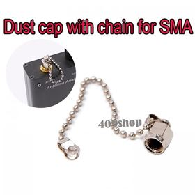Dust cap with chain for SMA female RF connector brass body