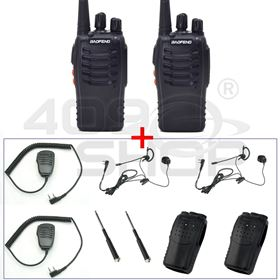 Picture of 2x BAOFENG BF-888SU WALKIE TALKIE + EARPIECE + MIC + ANTENNA + SOFT CASE