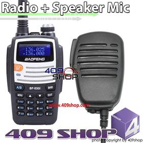 Picture of POFUNG BF-530I-W-UU Dual Band 136-174/400-520Mhz Radio + Speaker Microphone